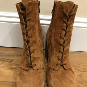 Vince. Halle Suede Booties. Size 9M. NWOB